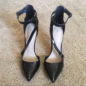 Patent Leather Ankle Strap Pump